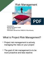 Projectriskmanagement Pmbok5 130627050911 Phpapp01