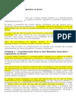 Relações Executivo-Legislativo No Brasil