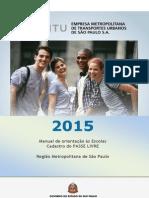 ManualPasselivre2015 Escola RMSP