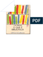 O Que é Biblioteca - Luiz Milanesi