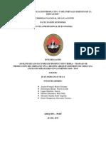 Análisis de Los Factores de Producción Tierra – Trabajo de Producción Del Orégano en La Región Arequipa Distrito de Chiguata Anexo de Miraflores en El Periodo 2010 - 2014