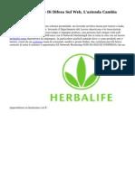 Herbalife Strategie Di Difesa Sul Web, L'azienda Cambia Rotta