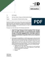 Dallas ISD memo on birth certificates and student identity