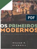 Os Primeiros Modernos- Texto Introdutório