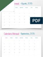 Impresion Calendario Agosto