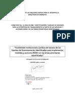 2015 REDD+ PRODUCTO 3 FACTIBILIDAD LEGAL E INSTITUCIONAL