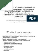 Deficiencias de Vitaminas y Minerales en Las Enfermedades