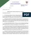 SSPD Statement Re