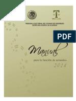 Manual Del Actuario Electoral Estado de Guerrero Mexico