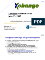 DSX InfoSphere DataStage is Big Data Integration 2013-05-13