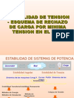 Estabilidad Tension Esquema Rechazo Carga Minima Tension Sein