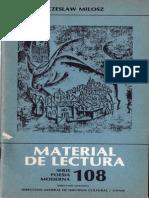 Czeslaw Milosz, Material de Lectura 108, UNAM