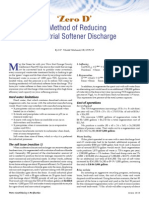 Zero D - A Method of Reducing Industrial Softener Discharge - Michaud