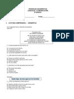 8º Básico (2) Lenguaje Prueba de Diagnostico 2015