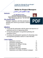 Negotiation Skills for Project Managers