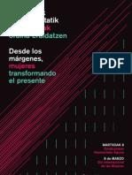 MARTXOAK 8KO EGITARAU BATERATUA / PROGRAMA UNITARIOA DEL 8 DE MARZO