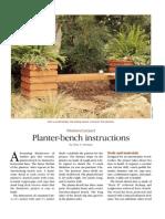 Planter Bench 2