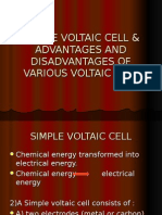 Advantages and Disadvantages of Various Voltaic Cell
