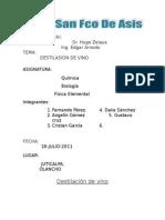 Destilacion de Vino