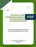 standart pelayanan medis 2008