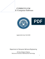 NUST MCS Computer Software Engineering Curriculum