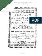 Teofilo - Tratado de La Analisis Del Arte de La Alchemia