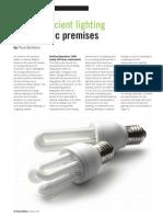 Energy efficient lighting in domestic premises. (UK)