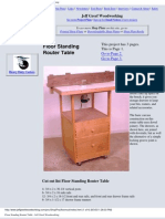 Standing Router Table