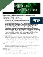 8th grade science syllabus