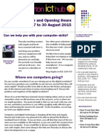 ICT Hub Newsletter 17 August 2015