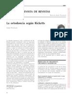 Ortodoncia Segun Rickets