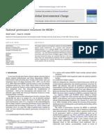 National governance structures for REDD+