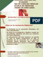 Nutrición y Lactancia Materna