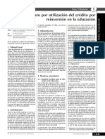 Credito a La Reinversion Educativa