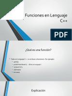 Presentacion para uso de funciones en C++