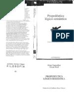 Tugendhat. Propedéutica Lógico-semántica - Caps. 1-2-3
