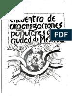 Encuentro Organizaciones ciudad de México Ayotzinapa