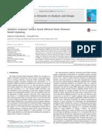Adaptive Response surface based efficient finite element modeling