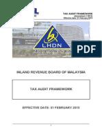 LHDNM Tax Audit Framework 2015 (English Version) (120515)