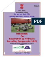Draft Handbook on Restoration by Hydraulic Re-railing Equipment