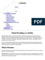 Plant Breeding as a Hobby