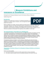 2012 Standards for Museum Exhibitions and Indicators of Excellence