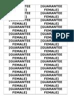 Guarantee Female
