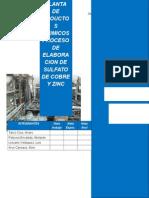 Trabajo de proceso sulfato y zinc