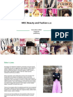 MEC Beauty and Fashion 2 0 Issue Six Magazine Innovation