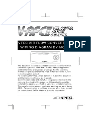 Apexi Vafc2 Wiring Electrical Connector Electrical Wiring
