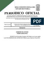 Ley de Ingresos Del Estado 2015