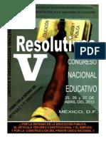 Resolutivos Del v Congreso Nacional de Educacic3b3n Cnte
