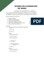 Costo Unitario en Iluminacion de Minas