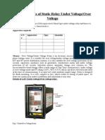 Characterstics of Static Relay Undervoltageovervoltage (1)